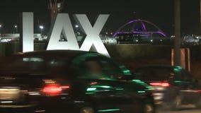 Tráfico Timelapse de LAX almacen de metraje de vídeo