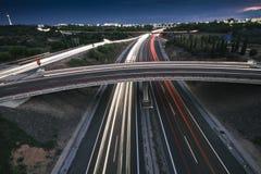 Tráfico urbano Foto de archivo libre de regalías