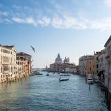 Tráfico veneciano Foto de archivo libre de regalías