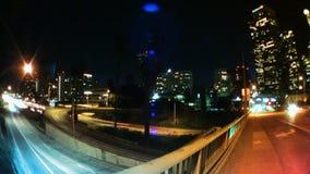 Tráfico y horizonte de Los Ángeles en la noche metrajes