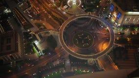 Tráfico y paisaje urbano de Shangai en la noche, Shangai, China almacen de video