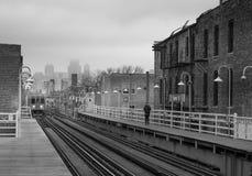 Tránsito en Chicago fotografía de archivo