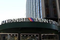 Tránsito Penn Station de NJ imagen de archivo