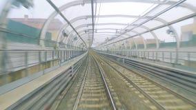Tránsito rápido en un tren moderno almacen de metraje de vídeo
