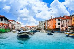 Trânsito intenso de Veneza Fotografia de Stock