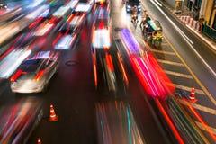 Trânsito intenso em Siam Square, Banguecoque, Tailândia Imagem de Stock Royalty Free