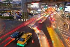 Trânsito intenso em Siam Square, Banguecoque, Tailândia Fotografia de Stock Royalty Free