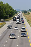 Trânsito intenso na estrada Imagem de Stock Royalty Free