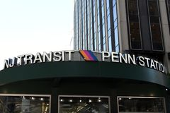 Trânsito Penn Station de NJ imagem de stock