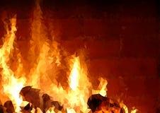 Trójgraniasty siatki tło z ogienia wzorem ilustracji