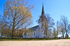 Trømborg church (north-west) Royalty Free Stock Image