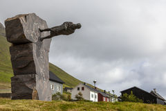 Trà ³ndur à Gøtu, Faroe Island, Danmark Royaltyfria Foton