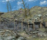 Trä överbryggar Arkivfoto