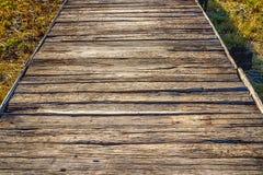Trä överbryggar Royaltyfri Foto