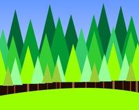 trä stock illustrationer