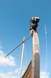Trä bekläda delen av den forntida Viking shipen Royaltyfri Fotografi