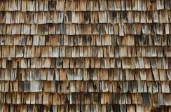 Trä belägger med tegel bakgrund Royaltyfri Fotografi