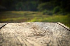 Trä däckar bakgrund Fotografering för Bildbyråer