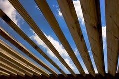 trä för 02 tak Arkivfoton