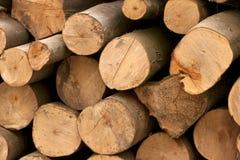 trä för 3 stapel Arkivfoton