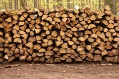 trä för 4 stapel Arkivfoto
