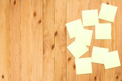 trä för anmärkningspapper Arkivbild