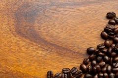 trä för bönakaffetabell Royaltyfri Fotografi