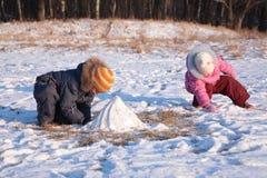 trä för barnspelrum Royaltyfri Bild