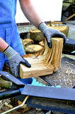 trä för cuttingmaskin Fotografering för Bildbyråer