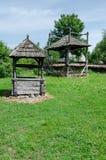 trä för drawspringbrunnwell Royaltyfri Foto