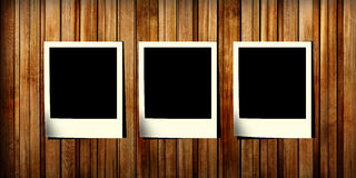 trä för fotoglidbana tre arkivfoto