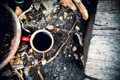 trä för kaffekopp Royaltyfria Foton
