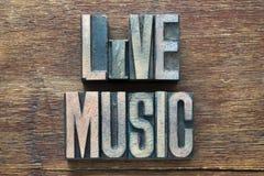 Trä för levande musik Arkivbild