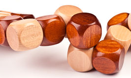trä för pussel 3D Arkivfoto