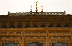 trä för tät moské för porslin utsmyckat övre arkivbild