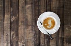 trä för white för tabell för svart kaffe royaltyfri fotografi