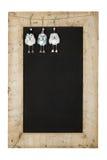Trä F för svart tavla för nya år för glad jul återvinner svart tavla Arkivbilder