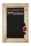 Trä F för svart tavla för nya år för glad jul återvinner svart tavla royaltyfri fotografi