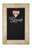 Trä F för svart tavla för nya år för glad jul återvinner svart tavla royaltyfria bilder