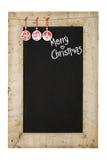 Trä F för svart tavla för nya år för glad jul återvinner svart tavla arkivfoto