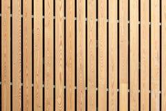 Trä gör randig fasadbyggnadsdekoren arkivfoto