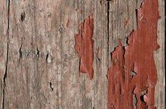 trä målas med brun målarfärg som försvinns nästan Royaltyfri Foto