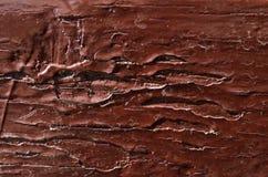 trä målas med mörk brunt smärtar Royaltyfri Bild