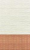 Trä- och tegelstenväggbakgrund eller textur Royaltyfri Bild