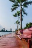 Trä placerar strand. Royaltyfri Bild