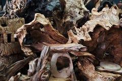 Trä rotar i en marknad i Peking Kina Royaltyfri Foto