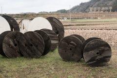 Trä rullar Fotografering för Bildbyråer