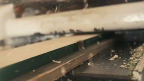 Trä som hyvlar åtsittande toppen ultrarapid lager videofilmer