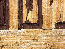 Trä texturera gammalt trä för dörr Fotografering för Bildbyråer