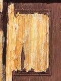Trä texturera gammalt trä för dörr Arkivbild